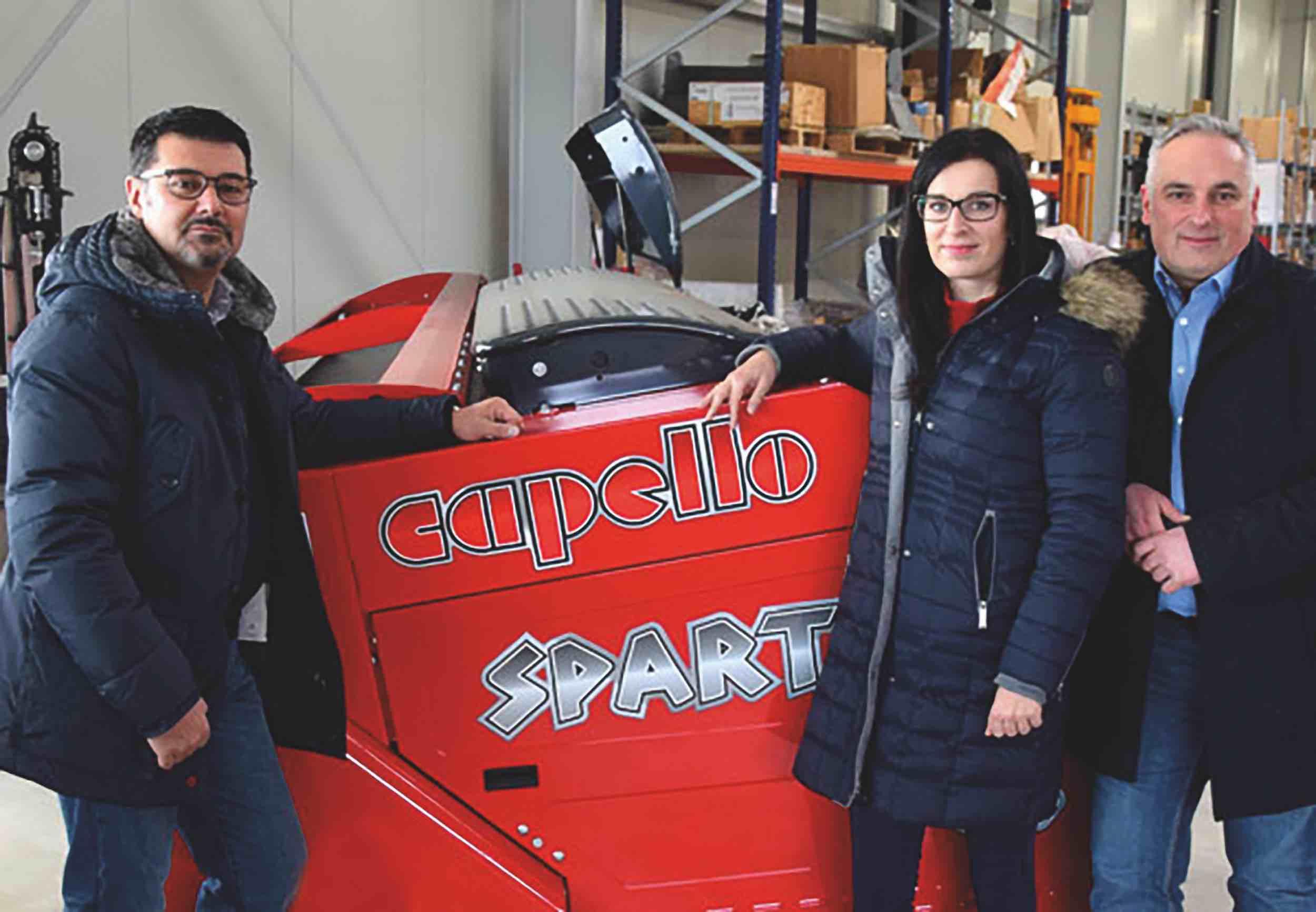 Da sinistra, Alberto Capello, responsabile strategie mercato Capello, Martina Suchankova, direttore commerciale Capello Germania e Pietro Vitale, amministratore delegato Capello Germania.