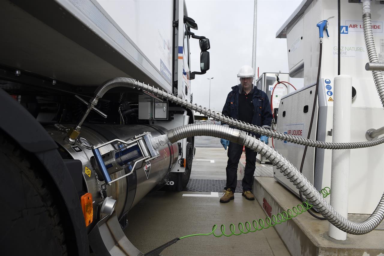 Camion alimentato a metano