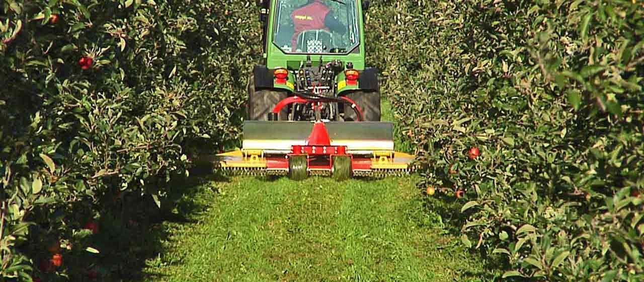 La Seppi Apple Vario permette un rapido adattamento a qualsiasi sesto di impianto del frutteto aumentando l'efficienza nella cura della coltura
