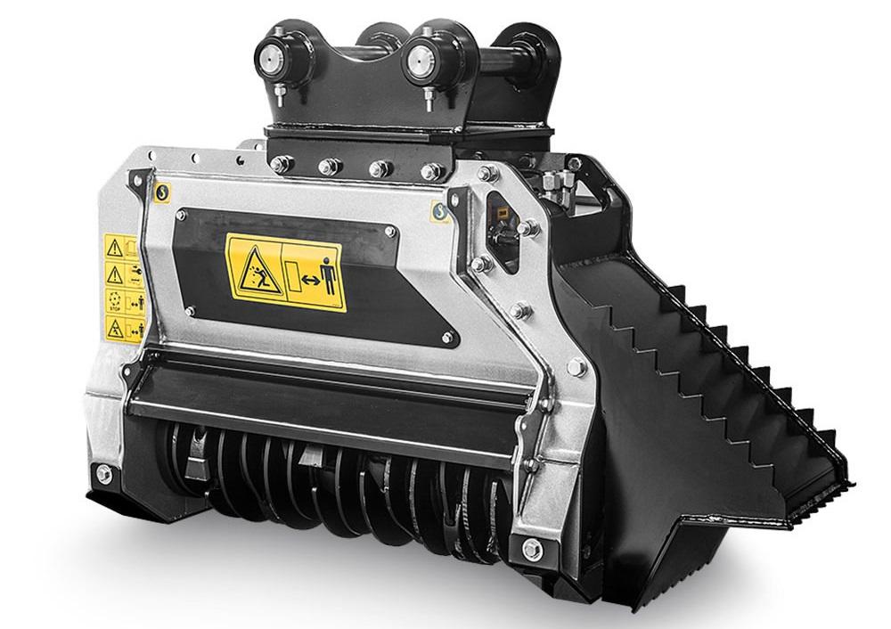 La FAE BL1/EX è una trincia compatta per escavatori della classe 4/7,5 tonnellate che adotta la tecnologia Bite Limiter